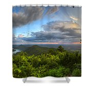 Blue Ridge Mountains Panorama Shower Curtain
