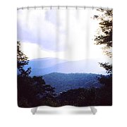 Blue Ridge Mountains Shower Curtain