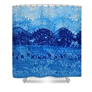 Blue Ridge Original Painting Shower Curtain