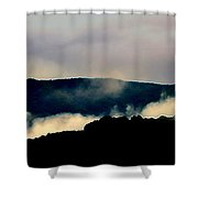 Blue Ridge Parkway Abstract Shower Curtain