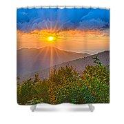 Blue Ridge Parkway Late Summer Appalachian Mountains Sunset West Shower Curtain