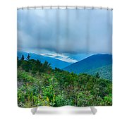 Blue Ridge Parkway National Park Sunrise Scenic Mountains Summer Shower Curtain
