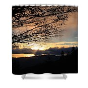 Blue Ridge Parkway Sunrise Shower Curtain
