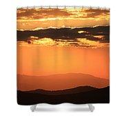 Blue Ridge Parkway Sunset-north Carolina Shower Curtain