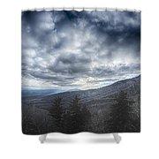 Blue Ridge Parkway Winter Scenes In February Shower Curtain