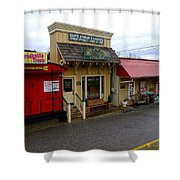 Blue Ridge Store Fronts Shower Curtain