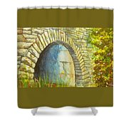 Blue Ridge Tunnel Shower Curtain