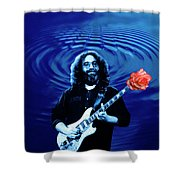 Blue Ripple From A Red Rose Shower Curtain