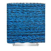 Blue Rope Stack Shower Curtain