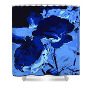 Blue Roses Shower Curtain