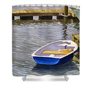 Blue Row Boat Shower Curtain