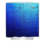 Blue Sand Abstract Shower Curtain