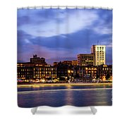 Blue Savannah Shower Curtain