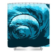 Blue Shell - Sea - Ocean Shower Curtain