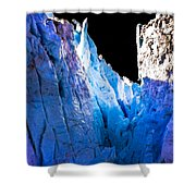 Blue Shivers Shower Curtain