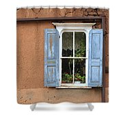 Blue Shutters Shower Curtain