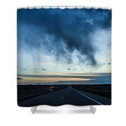 Blue Skies Above Shower Curtain