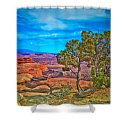 Blue Skies And Canyons Shower Curtain