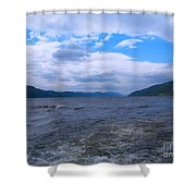 Blue Skies At Loch Ness Shower Curtain
