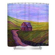 Blue Skies In The Hill Country Shower Curtain