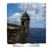 Blue Skies On The Horizon Shower Curtain