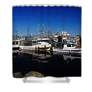Blue Skies Over French Creek Shower Curtain