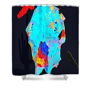 Blue Skulls At Dusk Shower Curtain