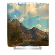 Blue Sky And Mountains Shower Curtain