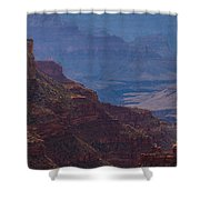 Blue Sky And Red Mountains Shower Curtain