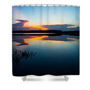 Blue Sky And Water Shower Curtain