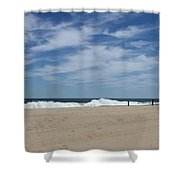 Blue Sky And Waves Shower Curtain