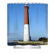 Blue Sky Blue Sea  And Barnegat Light Shower Curtain