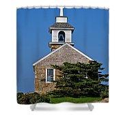 Blue Sky Chapel Shower Curtain