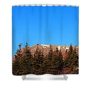 Blue Sky - Cliff - Trees Shower Curtain