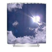 Blue Sky Clouds And Sunshine Shower Curtain
