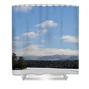 Blue Sky Day In The Adirondacks Shower Curtain