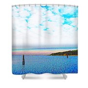 Blue Sky Dreaming Shower Curtain