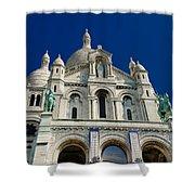 Blue Sky Over Sacre Coeur Basilica Shower Curtain