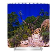 Blue Sky Over The Canyon Shower Curtain