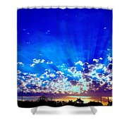 Blue Sky Shine Shower Curtain