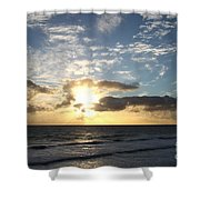 Blue Sky Sunrise Shower Curtain