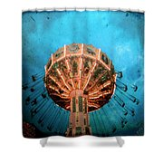 Blue Sky Swings Shower Curtain