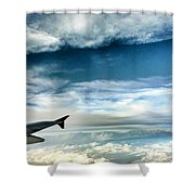 Blue Sky Wing Shower Curtain