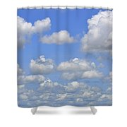 Blue Sky With Cumulus Clouds Day Usa Shower Curtain