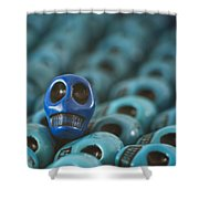 Blue Smile Shower Curtain
