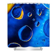 Blue Space Ice Shower Curtain