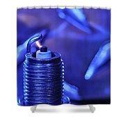 Blue Spark Shower Curtain