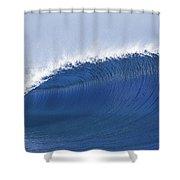 Blue Spinner Shower Curtain by Sean Davey