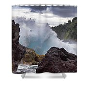 Blue Splash Shower Curtain