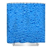 Blue Sponge Texture Shower Curtain